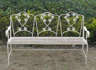 The Chairworks Leaf Bench would make a welcoming addition to a garden or patio.