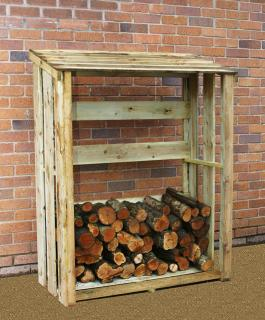 This Log Store is perfect for storing firewood outside.