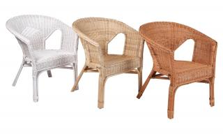 The rattan loom chair can be used in several areas of the home.