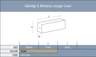 The Bramblecrest Oakridge & Monterey Lounger Cover will provide full protection over the winter months. Code FC01LGK.