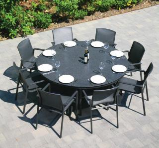 Westminster Madison 8 Seat Round Set in Charcoal