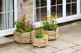 These three quality planters are a fantastic way of make a great feature within the garden.