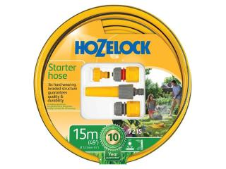 This flexible and hard wearing hose pipe is suitable for general garden use & comes in a choice of two lengths with connectors & nozzle.
