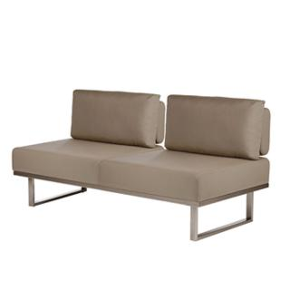 Barlow Tyrie Mercury Deep Seating Sofa without Arms