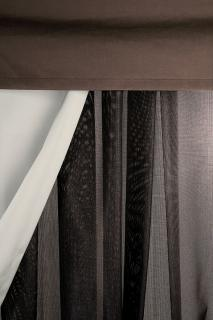Barlow Tyrie Code 9041210. The Pavillion Mesh Curtains will provide protection from the sun and wind.