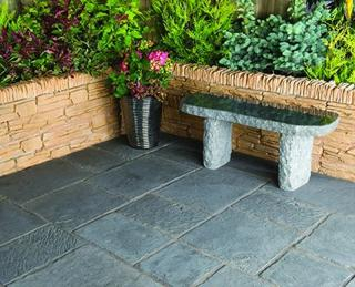 Minster paving replicates a time worn look of natural reclaimed stone. The subtle colours and tones, along with the 'fettled' edges produce an authentic aged appearance.