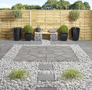 Minster 2.3m (5.29sqm) Octagon Graphite Patio Paving Kit