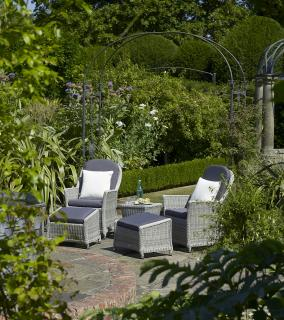 The stylish Monterey Recliner Set is the perfect set for relaxing within the garden.
