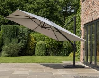Norfolk Leisure 3m Square Deluxe Cantilever Parasol in Mouse Grey