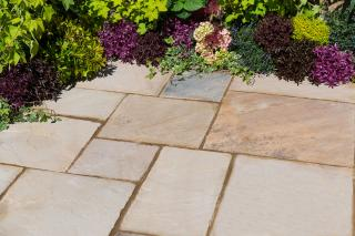 Kelkay Natural Sandstone 15.3sqm Patio Kit in Eastern Sand