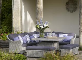 The stylish Monterey Lounge Casual Corner Suite is the perfect set for relaxing within the garden.