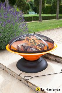 The Moda Enamelled Firepit would provide an inviting atmosphere for cooler summer evenings. La Hacienda 58169.