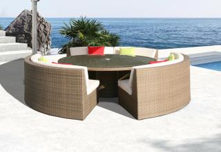 Westminster Valencia Curved Dining Set in Sand
