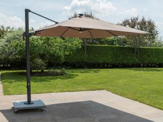 Norfolk Leisure 3m Square Palermo LED Cantilever Parasol, Base & Cover Offer