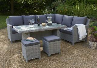 This Modular Set Comes In A Left Hand Configuration With Light Grey Resin  Weave U0026amp;