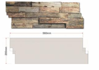 This wooden wall panel can be used on its own as a decorative feature or combined with others to cover the whole wall.