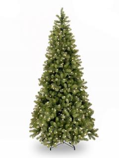 8ft Pre-lit Slim Bayberry Spruce Feel-Real Artificial Christmas Tree