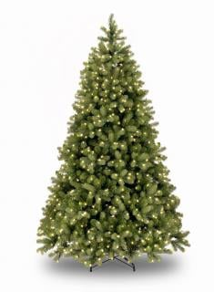 7ft Pre-lit Bayberry Spruce Feel-Real Artificial Christmas Tree