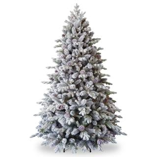 7.5ft Snowy Dorchester Pine Feel-Real Artificial Christmas Tree