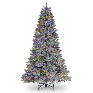 7ft Dual Cosmic Light Iceland Fir Feel-Real Artificial Christmas Tree Multi