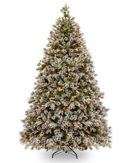 9ft Pre-lit Liberty Pine Decorated Feel-Real Artificial Christmas Tree