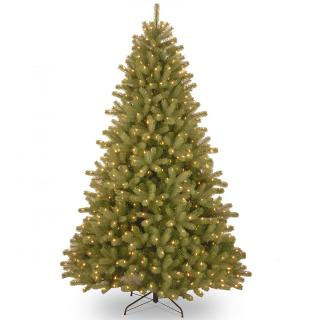 7ft Pre-lit Lakewood Spruce Feel-Real Artificial Christmas Tree