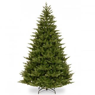This realistic PE/PVC mix tree will make a great backdrop to your Christmas decorations.