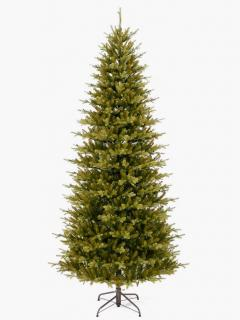 7ft Smokey Mountain Fir Slim Feel-Real Memory-Shape Artificial Christmas Tree