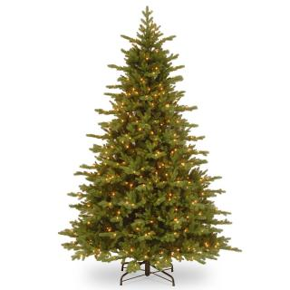 7.5ft Pre-lit Vienna Fir Feel-Real Artificial Christmas Tree