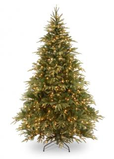 8ft Pre-lit Weeping Spruce Feel-Real Artificial Christmas Tree