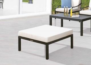 Westminster Code PORT405 + cushion. A comfortable garden ottoman complete with Sunbrella & Quick Dry cushion in a choice of colours.