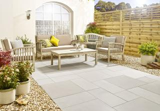 This durable smooth Sandstone Patio will give lots of character to the garden.