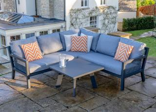 The eye catching Bramblecrest La Rochelle Lounge Set is ideal for those wishing for a furniture set that it practical and maintenance free.
