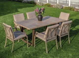 The Dovedale 180 x 90cm Six Seater Dining Set is oozing style and elegance.