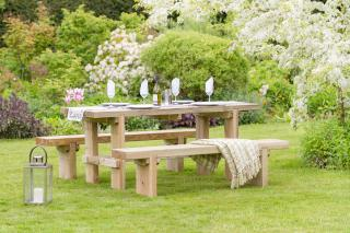 Rebecca Table & Bench Set