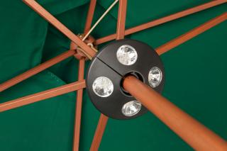 The LED clip on parasol light comes complete with batteries and has 24 White LED's