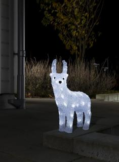 Why not let this graceful reindeer brighten up your garden on the dark wintery nights.