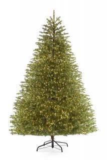 7.5ft Pre-lit Ridgedale Infinity Fir 100% Feel-Real Artificial Christmas Tree