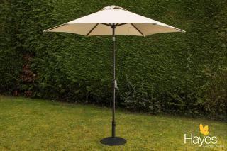 This crank & tilt parasol comes in a range of colours & includes a 15kg parasol base.