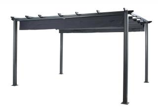 This rectangular aluminium pergola comes in a choice of two colours. Grey sold out