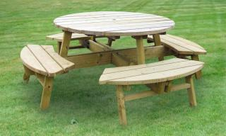 Rose 75cm Round Picnic Table