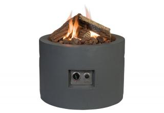 This eye-catching gas fire pit will make a great focal point for your garden or patio on cool evenings.