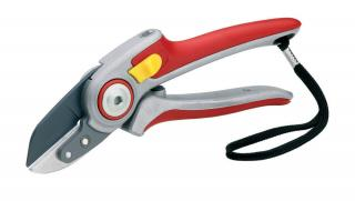 Wolf-Garten Anvil Aluminium Secateurs are tough on pruning.