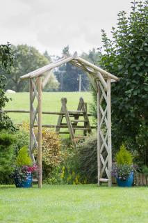 The traditional Rustic Garden Arch is perfect for creating an entrance to your garden.