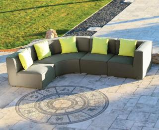 A modular all weather corner set in a choice of colours with quick dry foam.