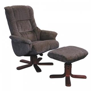 Global Furniture Alliance Shangri-La Recliner with Footstool in Chocolate