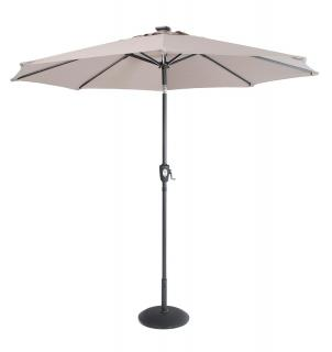 Norfolk Leisure Solar Belt Light Parasol 2.7m