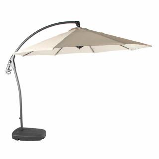 Bramblecrest Code X16PP30R001. The Gloucester 3m Side Post Parasol is ideal for use of shading over a dining set, hot tub or outdoor sofa.