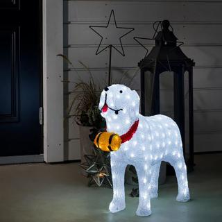 Why not let this larger than life St Bernard lighten up your garden path this Christmas.