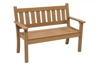 A maintenance free 1.27m bench made from heavy duty resin in a choice of 3 colours.